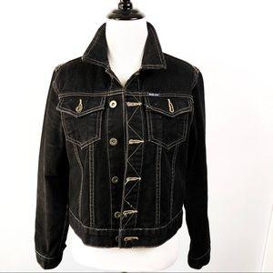 Nautica Black Jean Jacket. Size:S